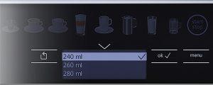 instellingen koffiehoeveelheid