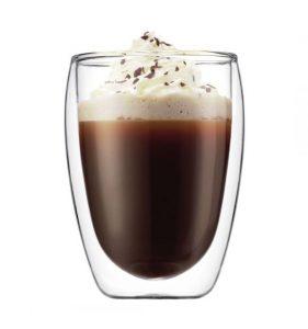 Koffiekopje met dubbelwandig glas