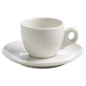Maxwell & Williams White Basics Espressokop en schote